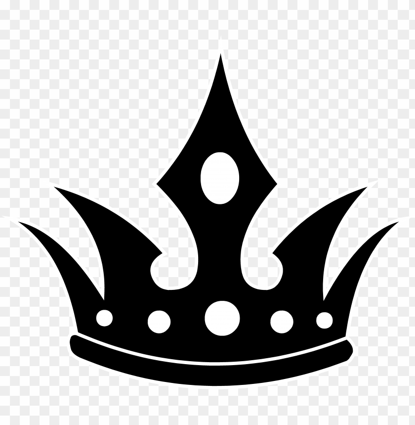 ointed black crown silhouette king crown png vector 11562958043lrebepcivj