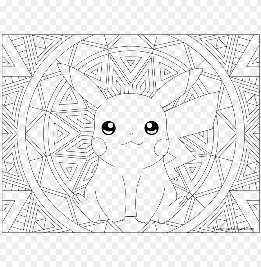 free PNG okemon coloring pages gyarados with adult page pikachu - pikachu coloring pages adult PNG image with transparent background PNG images transparent