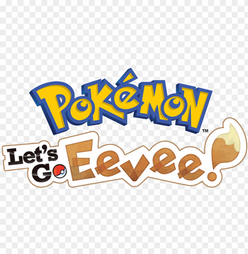 free PNG okemon lets go eevee - pokemon let's go pikachu logo PNG image with transparent background PNG images transparent