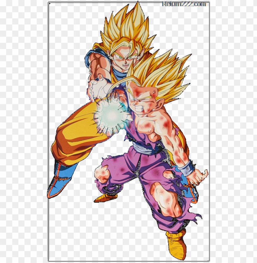free PNG oku gohan kamehameha for kids - father and son dragon ball z PNG image with transparent background PNG images transparent