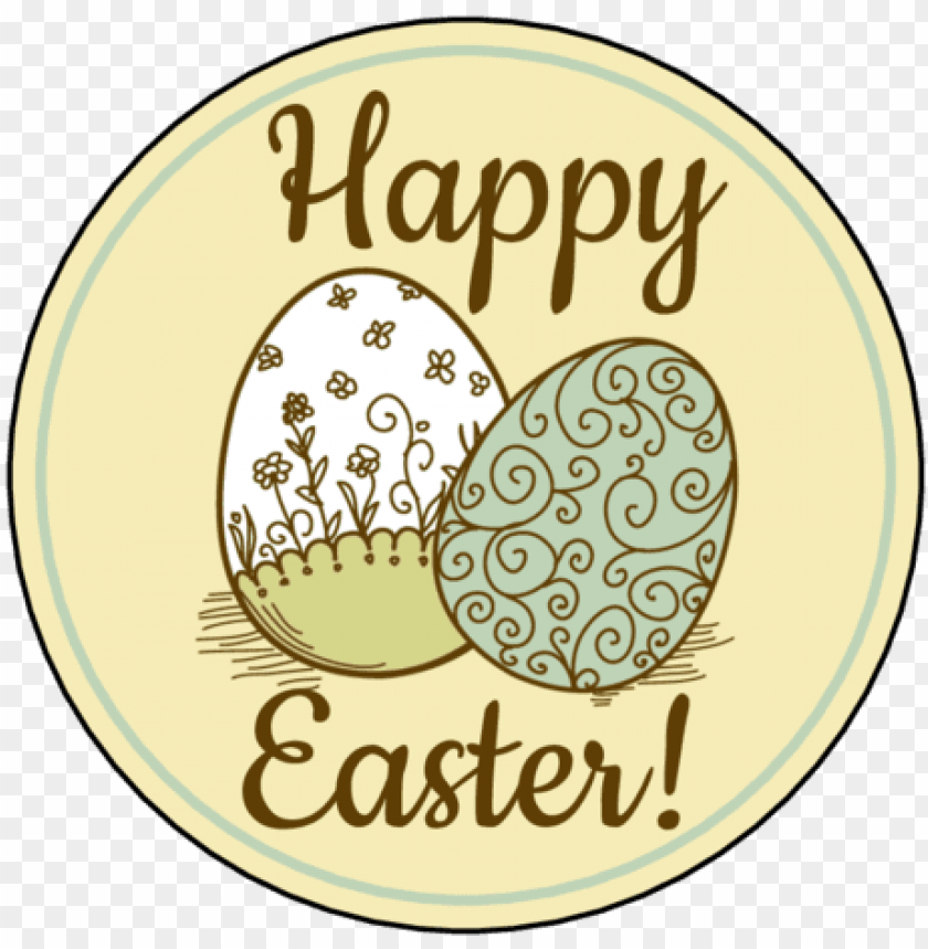 """free PNG ol350 - 2 - 5"""" circle - happy easter eggs - easter watercolor card with egg and flowers. card PNG image with transparent background PNG images transparent"""