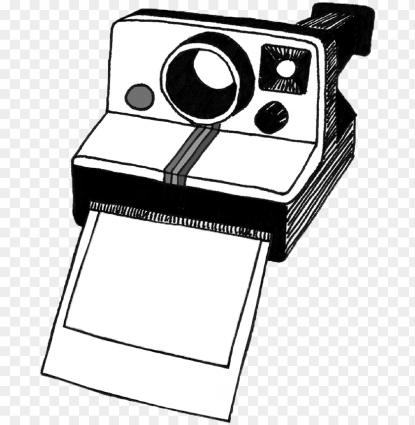 free PNG olaroid camera clipart black and white - polaroid camera clipart transparent PNG image with transparent background PNG images transparent