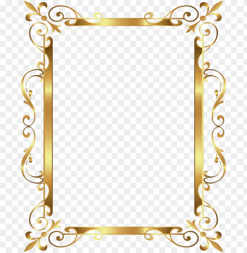 free PNG old border frame deco transparent clip art image frame - gold box border vector PNG image with transparent background PNG images transparent
