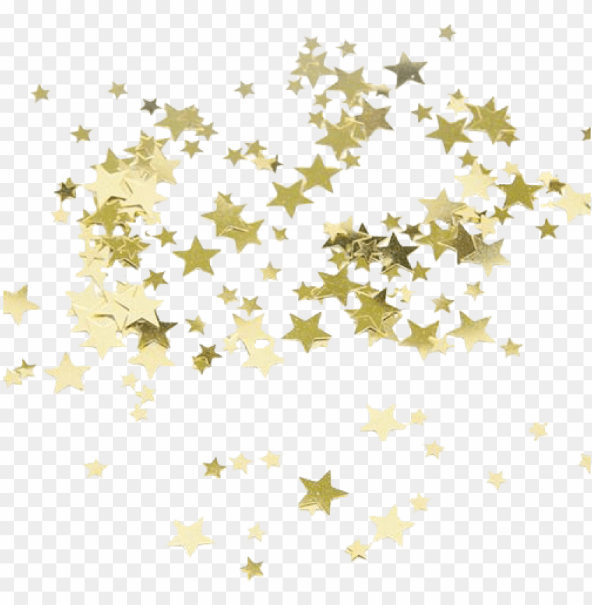 free PNG old confetti overlays png related keywords - gold star confetti PNG image with transparent background PNG images transparent