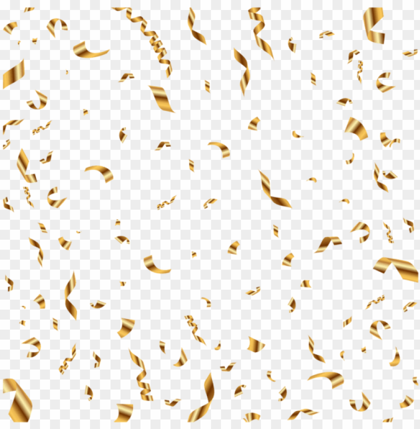 free PNG old confetti transparent clip art image - metallic gold confetti PNG image with transparent background PNG images transparent