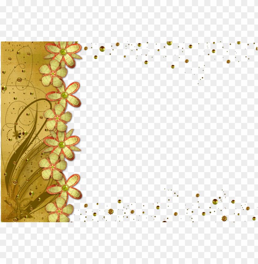free PNG old flower frame png transparent picture - gold flower frame PNG image with transparent background PNG images transparent
