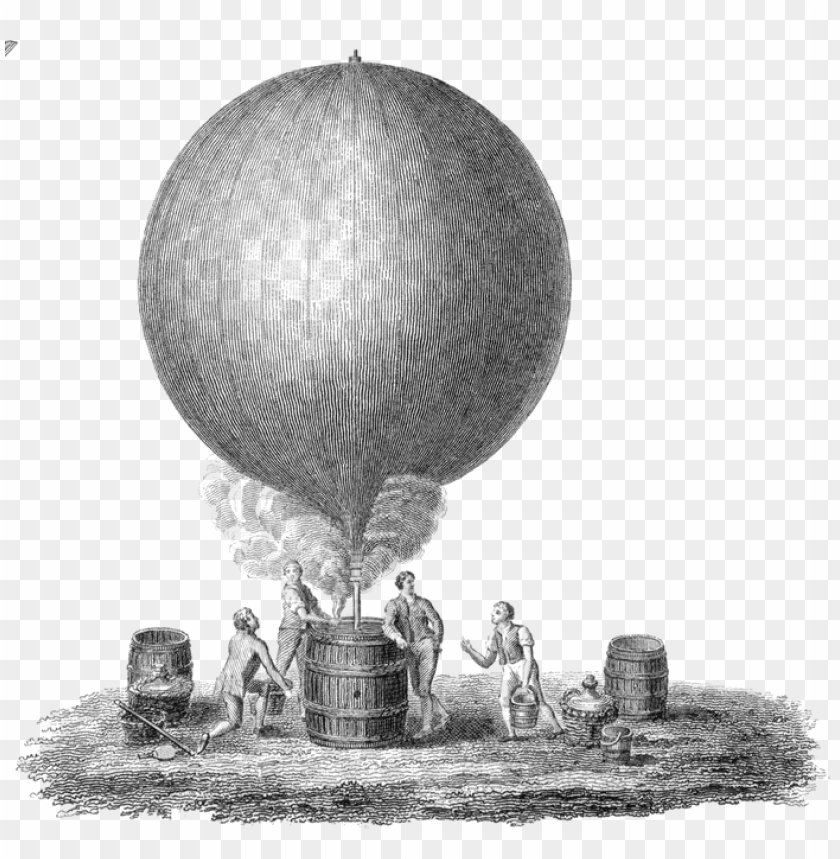 free PNG Download old illustration of hot air balloon png images background PNG images transparent