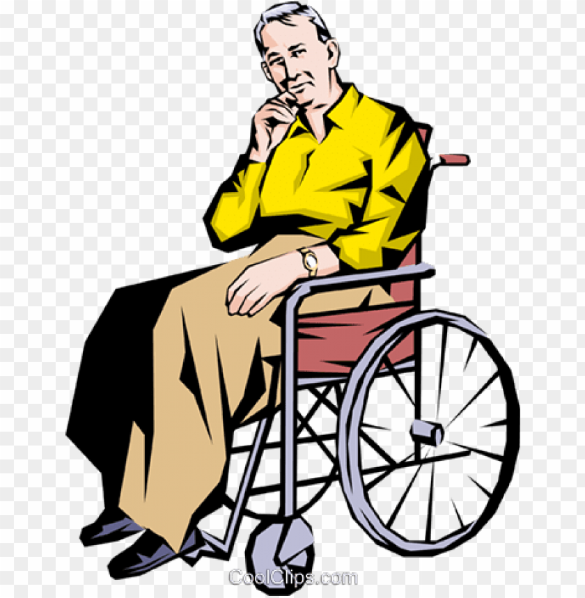 free PNG old man in a wheelchair royalty free vector clip art - old man in a wheelchair drawi PNG image with transparent background PNG images transparent