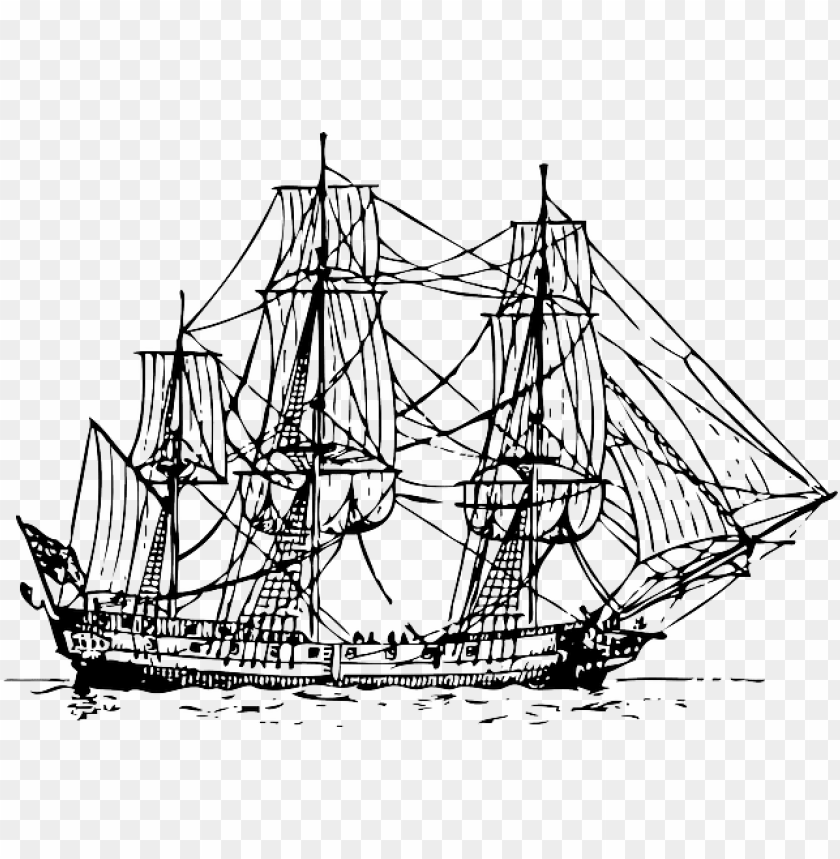 free PNG old, outline, sailing, ship, boat, pirate, automatic - outline sailing shi PNG image with transparent background PNG images transparent