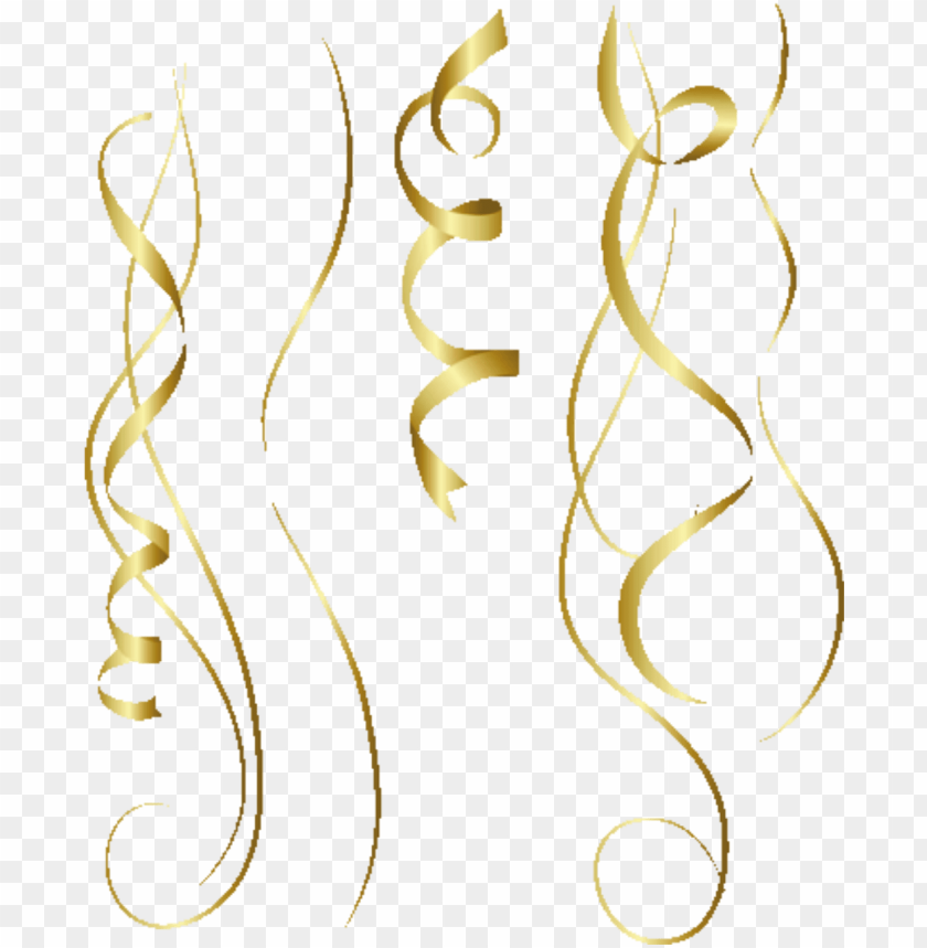 free PNG old party confetti streamers @simonevdw - gold png confetti PNG image with transparent background PNG images transparent