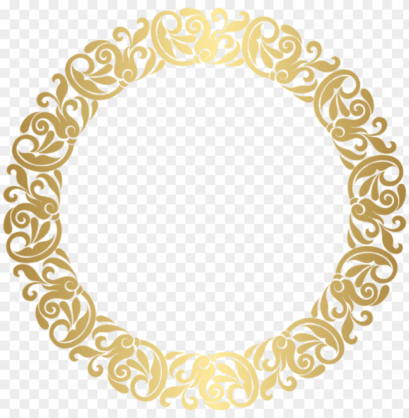 free PNG old round border frame png clip art - gold circle frame PNG image with transparent background PNG images transparent