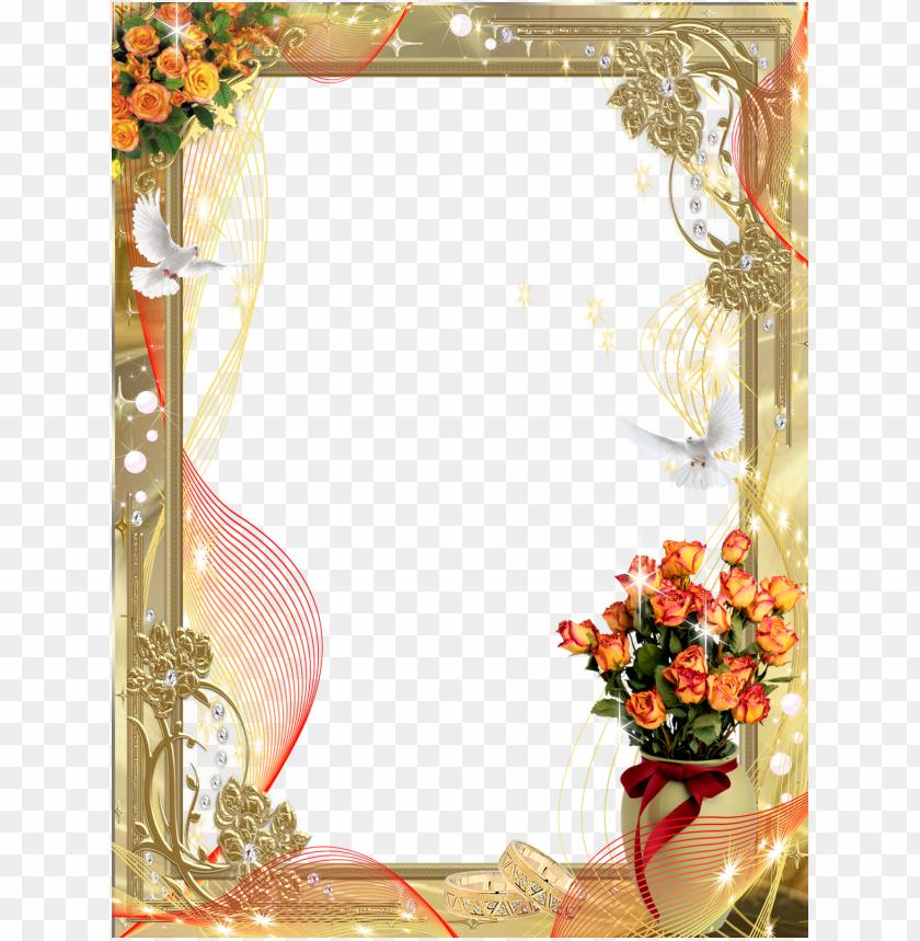 free PNG old wedding frames png download - wedding photo frame PNG image with transparent background PNG images transparent