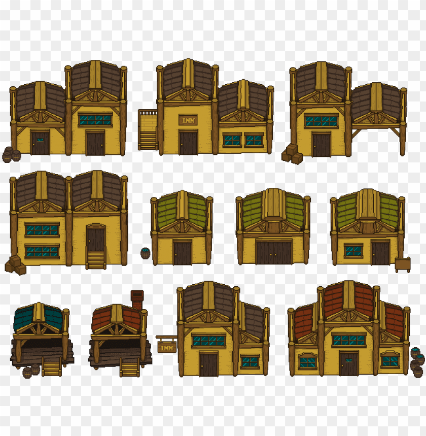 free PNG old western houses - old west pixel art PNG image with transparent background PNG images transparent