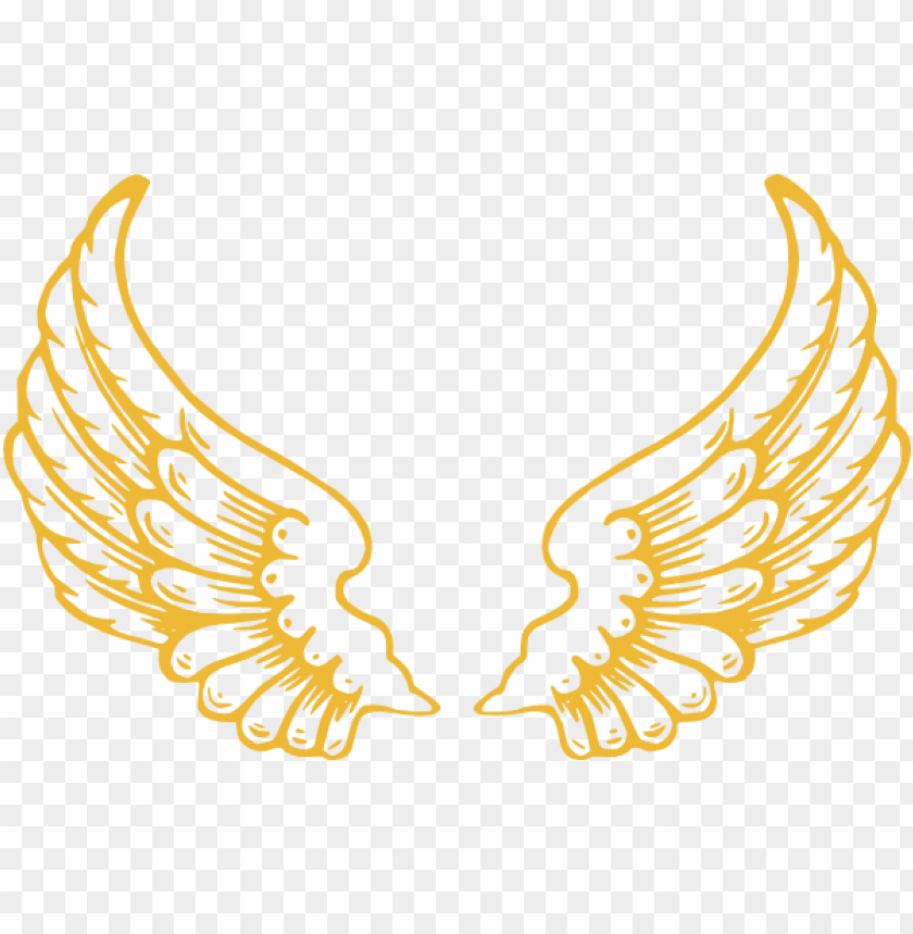 free PNG old wings clip art at clker com - gold angel wings PNG image with transparent background PNG images transparent
