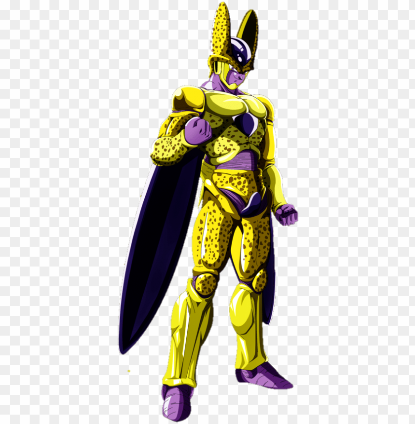 Olden Cell Vs Fusion Zamasu Dragon Ball Golden Cell Png Image
