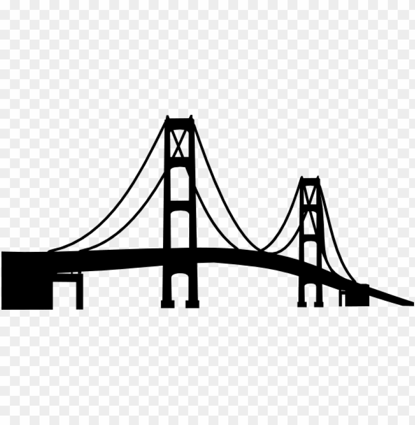 free PNG olden gate bridge silhouette png graphic library download - mackinac bridge silhouette PNG image with transparent background PNG images transparent