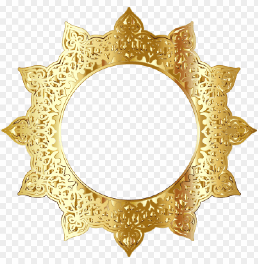 free PNG olden round frame border circle frames - gold circle frame PNG image with transparent background PNG images transparent