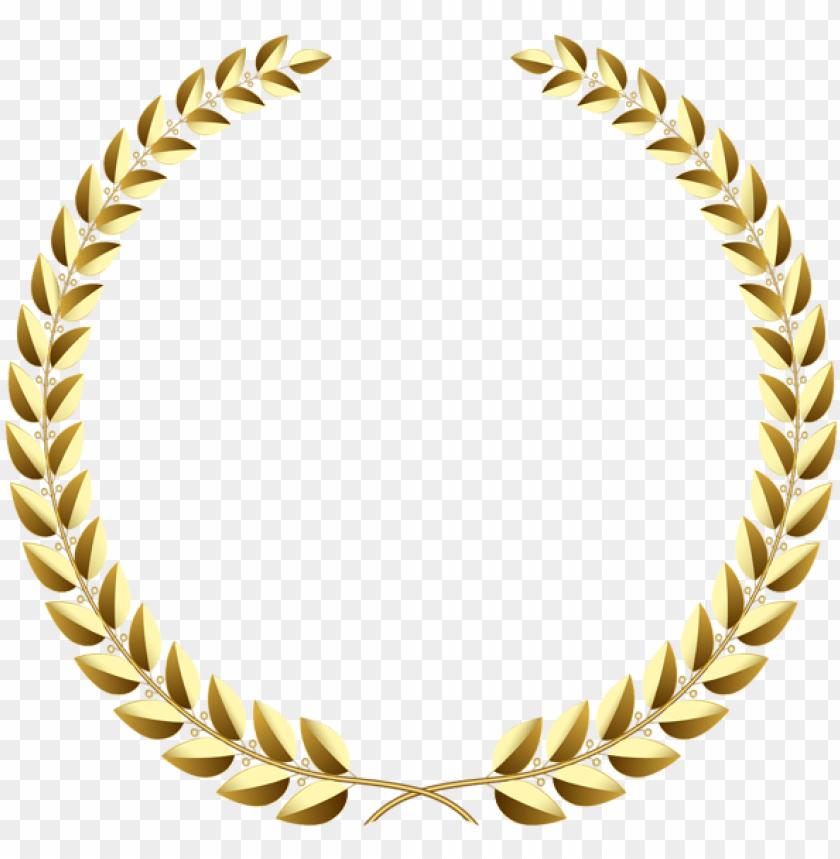 free PNG olden wreath transparent png clip art image - gold laurel wreath transparent PNG image with transparent background PNG images transparent