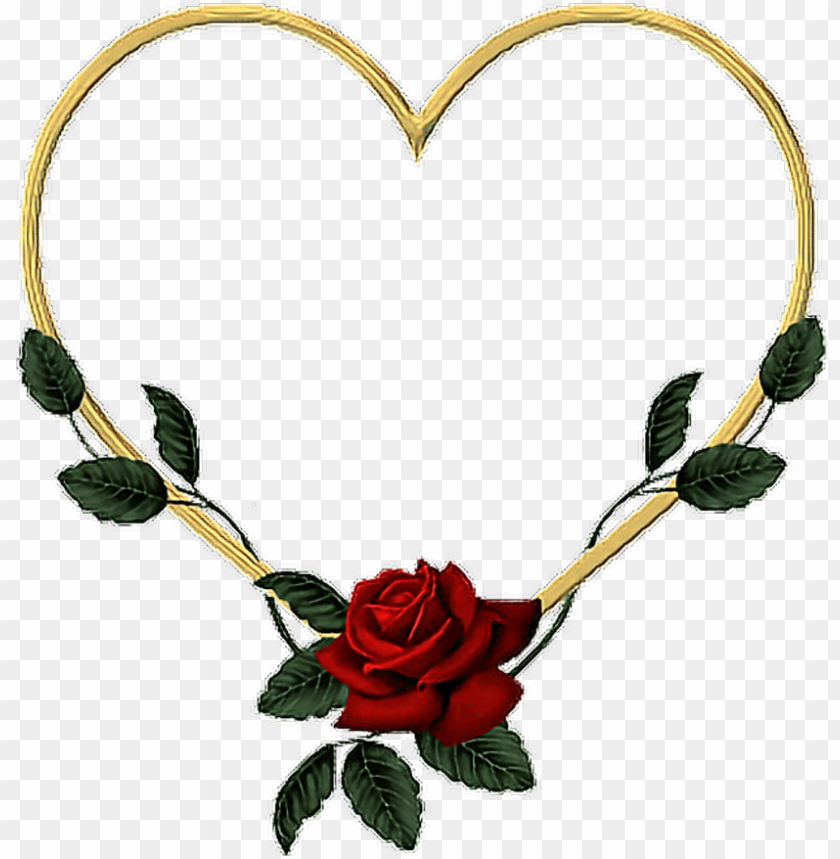 oldheart gold heart rose vines leaves flower wreath - heart PNG image with transparent background@toppng.com