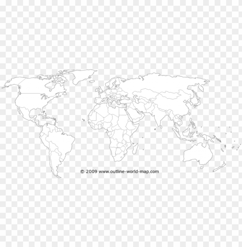 free PNG olitical white transparent thin world map b5a - high resolution blank world ma PNG image with transparent background PNG images transparent