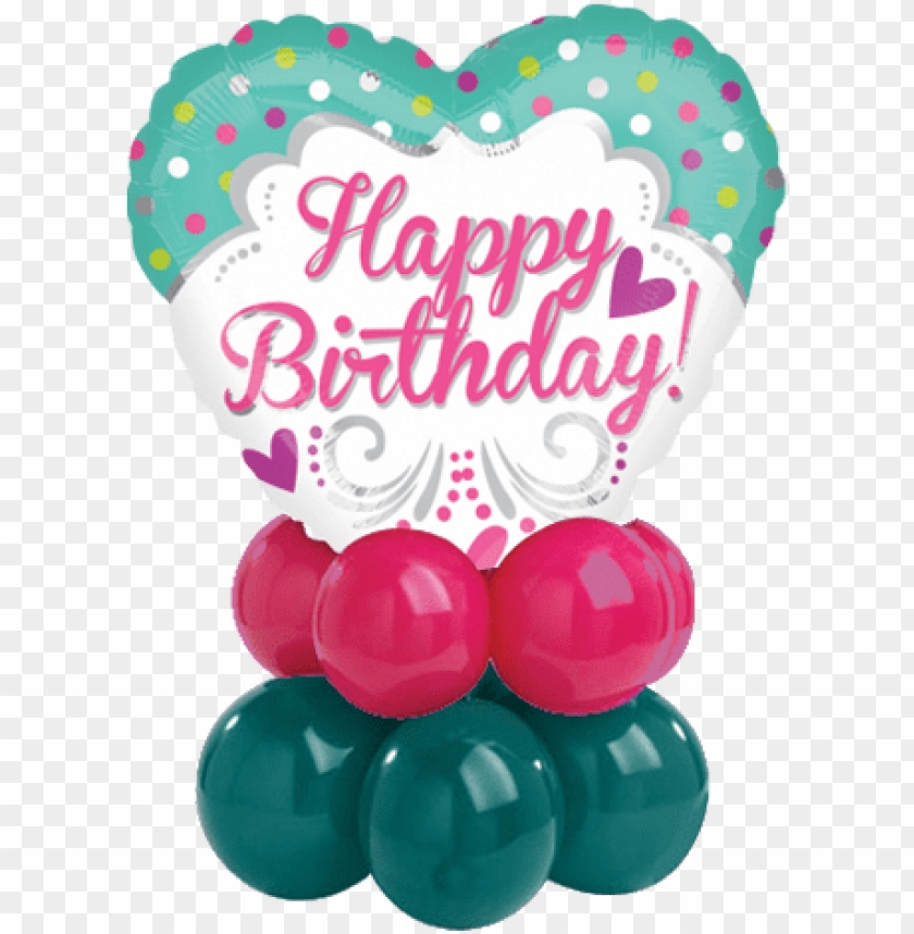 """free PNG olkadots hearty bday heart shaped balloon - 18"""" princess birthday foil balloo PNG image with transparent background PNG images transparent"""