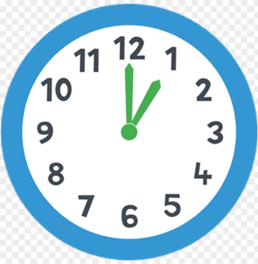 free PNG one o'clock blue clock PNG image with transparent background PNG images transparent
