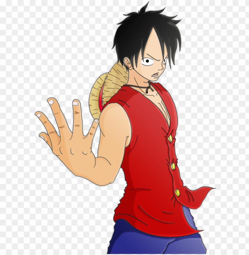one piece luffy come on tpr by albikai-d30vgfi - one piece monkey d luffy PNG image with transparent background@toppng.com