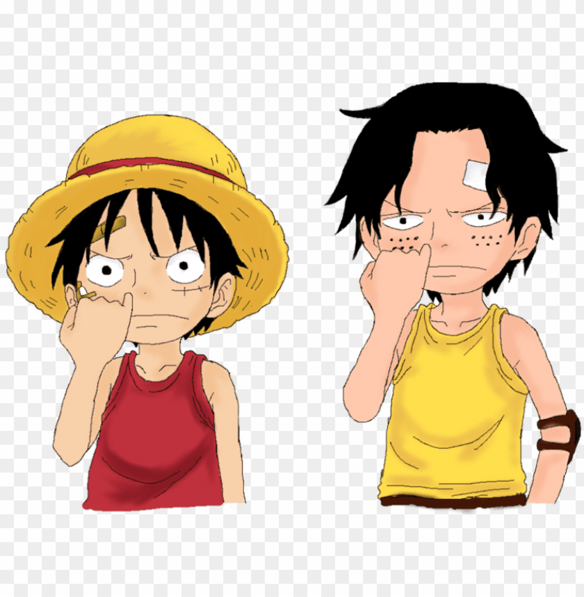 free PNG one piece luffy with ace child 1436225743 - young luffy and ace PNG image with transparent background PNG images transparent