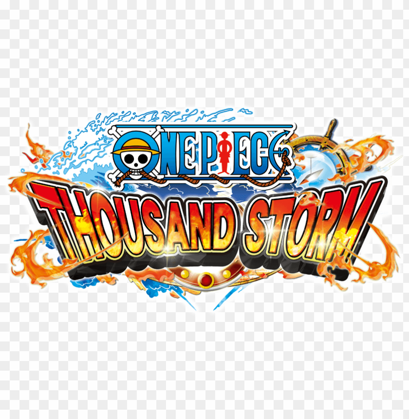 free PNG one piece thousand storm - one piece thousand storm logo PNG image with transparent background PNG images transparent