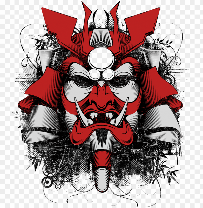 Oni Mask Wallpaper Japanese Art Samurai Mask Png Image