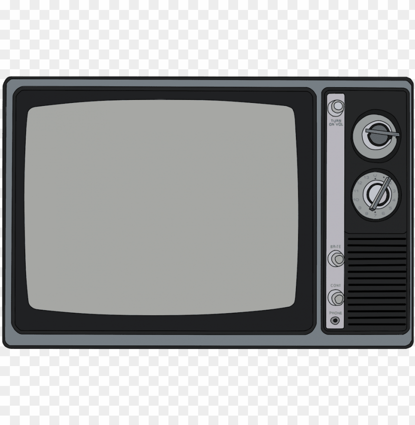 free PNG ood old black and white tv - old tv drawi PNG image with transparent background PNG images transparent
