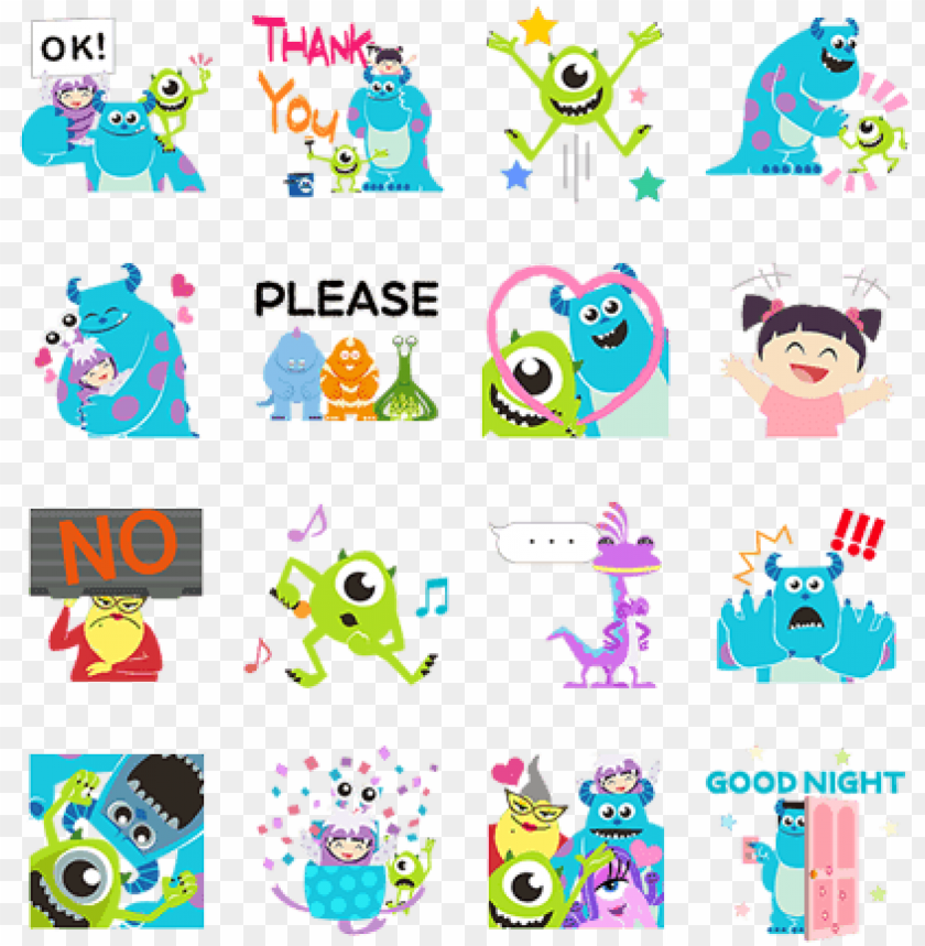 Op Up Stickers Monster University Line Sticker Png Image With Transparent Background Toppng