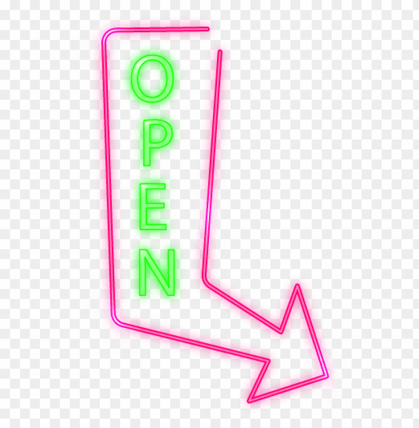 free PNG open arrow neon sign - neon si PNG image with transparent background PNG images transparent