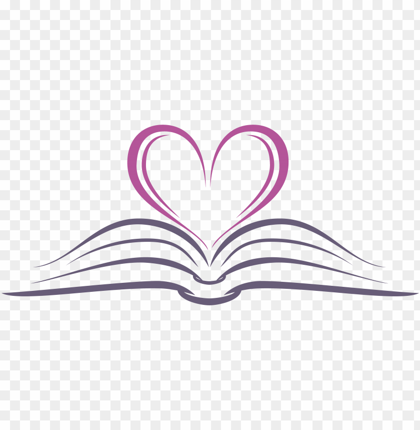 free PNG open book with heart - open book heart transparent PNG image with transparent background PNG images transparent