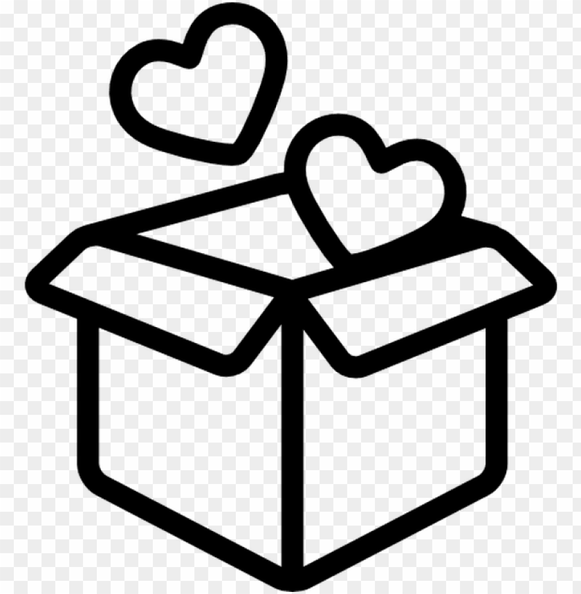 free PNG open box with two hearts free vector icons designed - open gift box icons png - Free PNG Images PNG images transparent