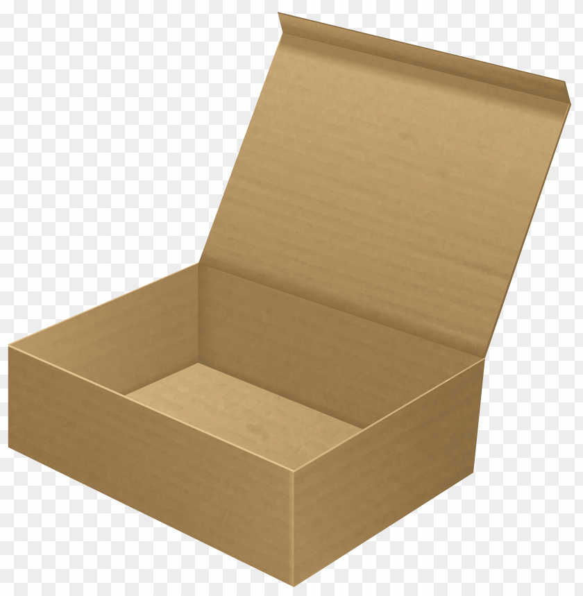 free PNG Download open cardboard box clip art clipart png photo   PNG images transparent