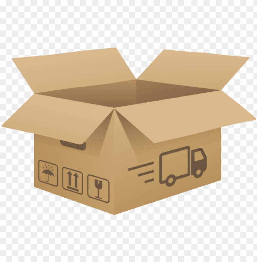 free PNG open cardboard box png clip art image - caja de envio PNG image with transparent background PNG images transparent