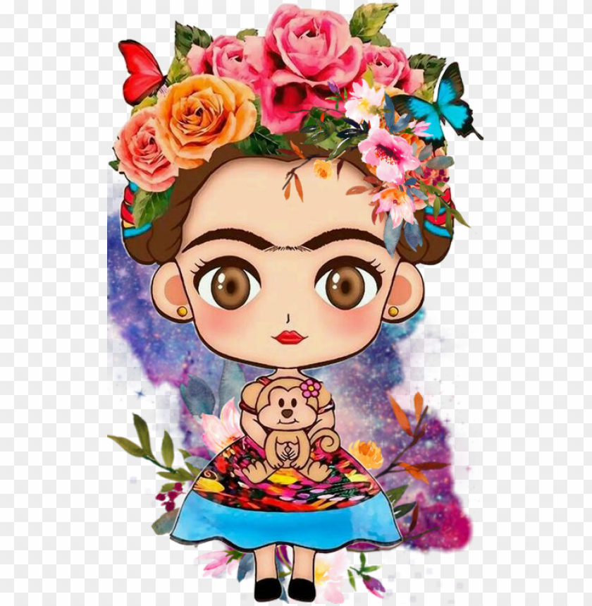 free PNG opular and trending famous people stickers on picsart - frida kahlo dibujo anime PNG image with transparent background PNG images transparent