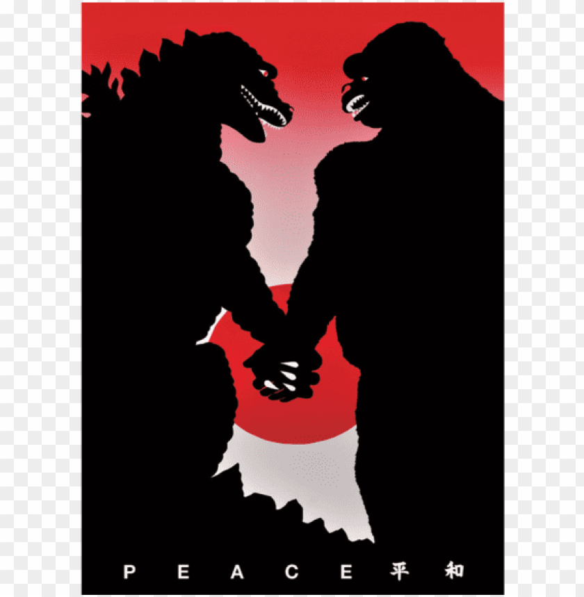 free PNG opular - godzilla king kong peace PNG image with transparent background PNG images transparent