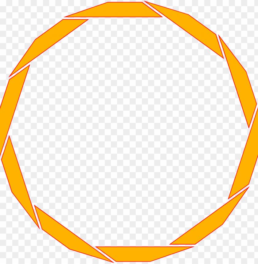 free PNG orange border frame png free download - transparent circle border orange PNG image with transparent background PNG images transparent