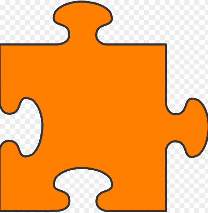 free PNG orange border puzzle piece top clip art at clipart - puzzle piece clipart PNG image with transparent background PNG images transparent