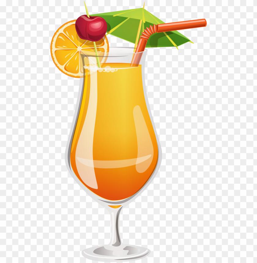 free PNG orange cocktail png clipart - tequila sunrise clip art PNG image with transparent background PNG images transparent