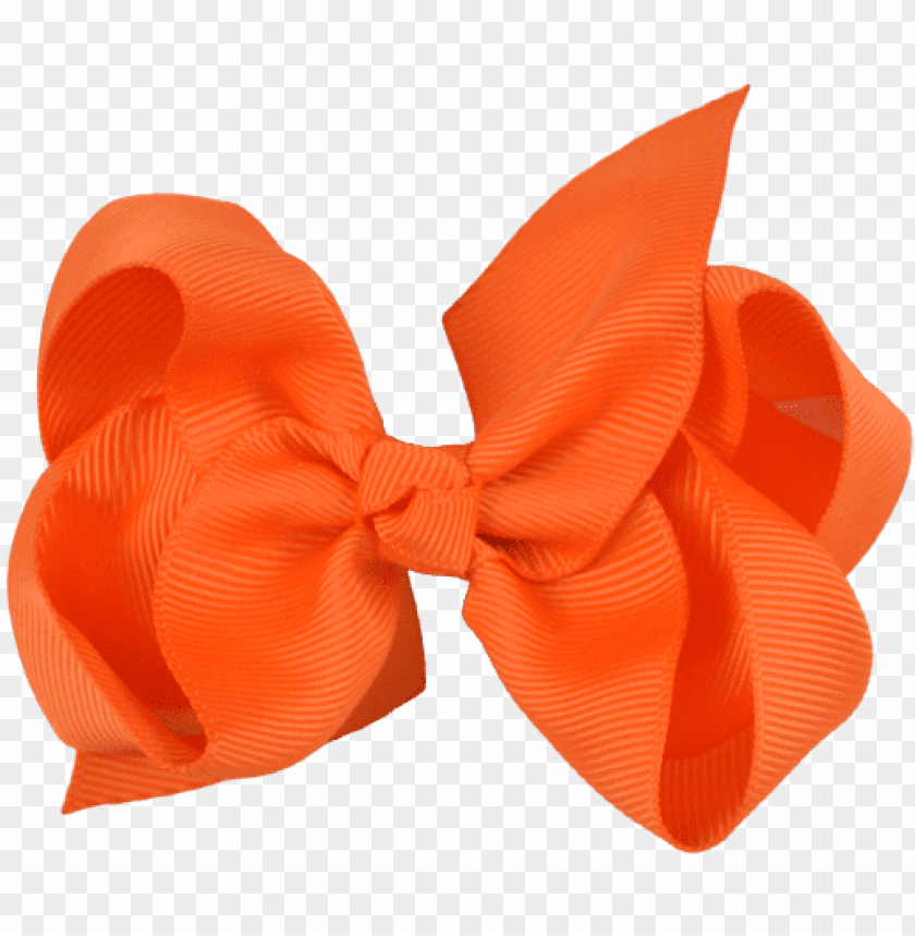 orange ribbon transparent - orange ribbon bow PNG image with transparent background@toppng.com