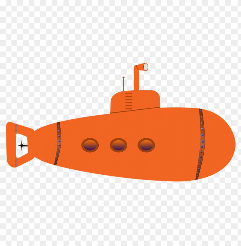 free PNG Download orange submarine png images background PNG images transparent