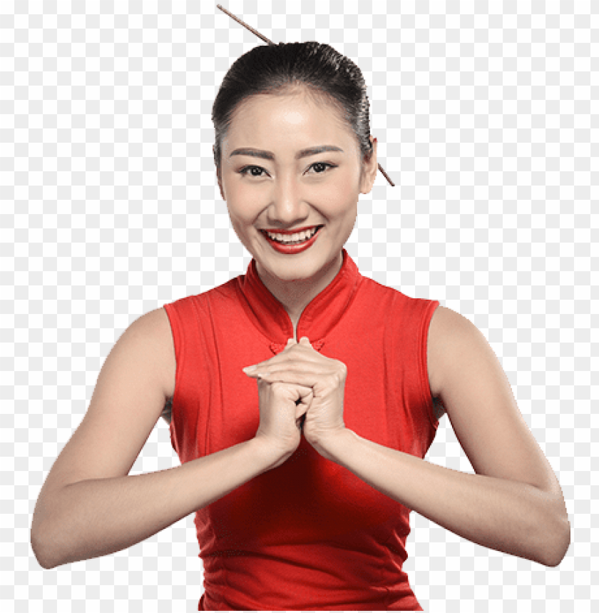 free PNG order online now asian-girl - red asian girl PNG image with transparent background PNG images transparent