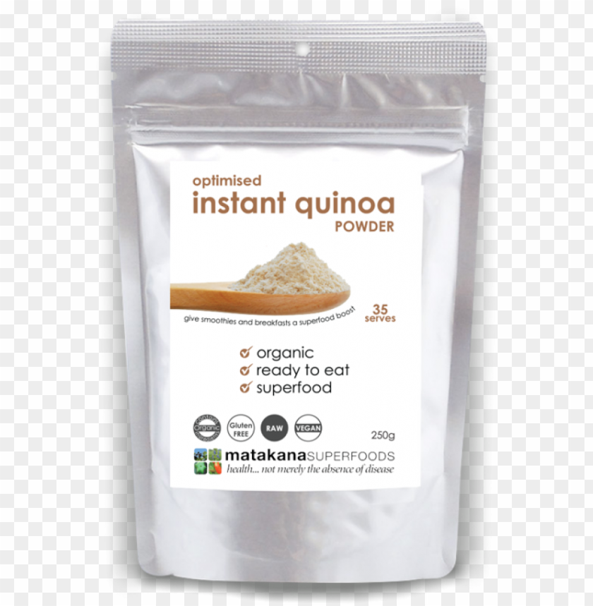 free PNG organic instant quinoa powder 250g - matakana superfoods mesquite powder high in protei PNG image with transparent background PNG images transparent