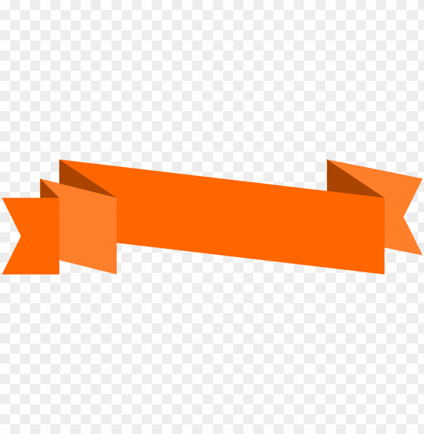 free PNG origami banner orange PNG image with transparent background PNG images transparent