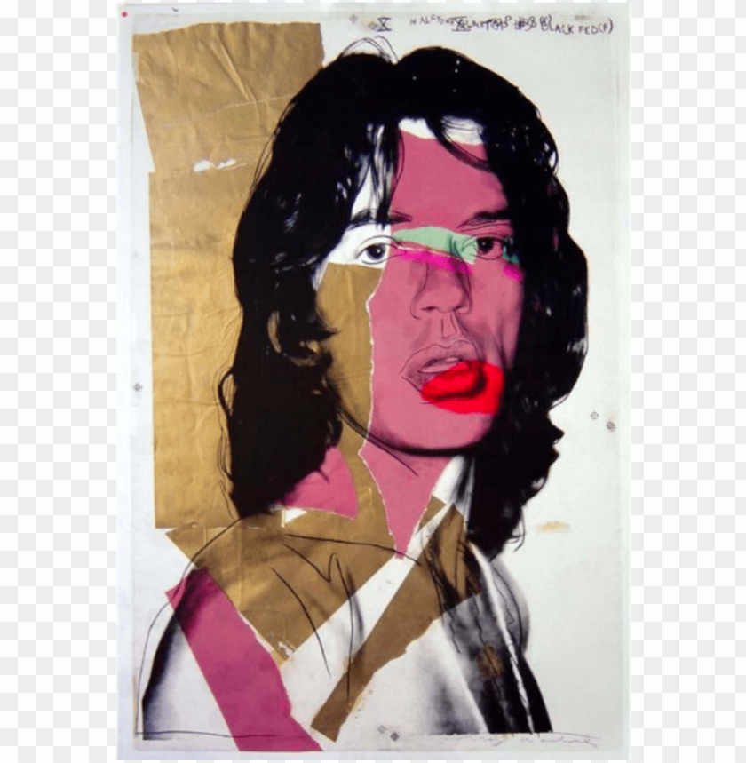 free PNG original rolling stones lps, posters and general memorabilia - andy warhol mick jagger poster PNG image with transparent background PNG images transparent