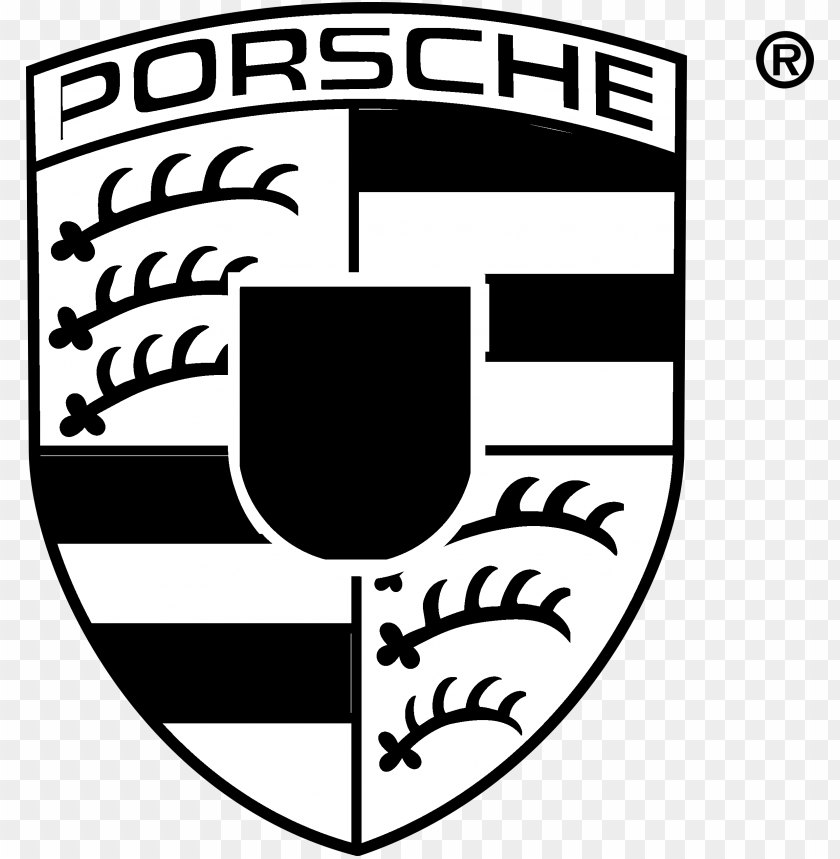 free PNG orsche logo black and white - porsche logo PNG image with transparent background PNG images transparent