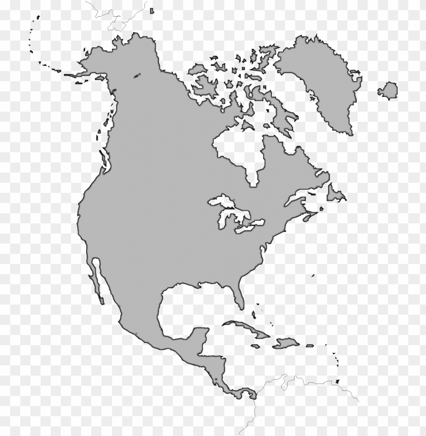 orth america map png image - blank north america map no ...